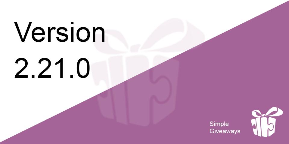 2.21.0 – Twitter Action, Better Design