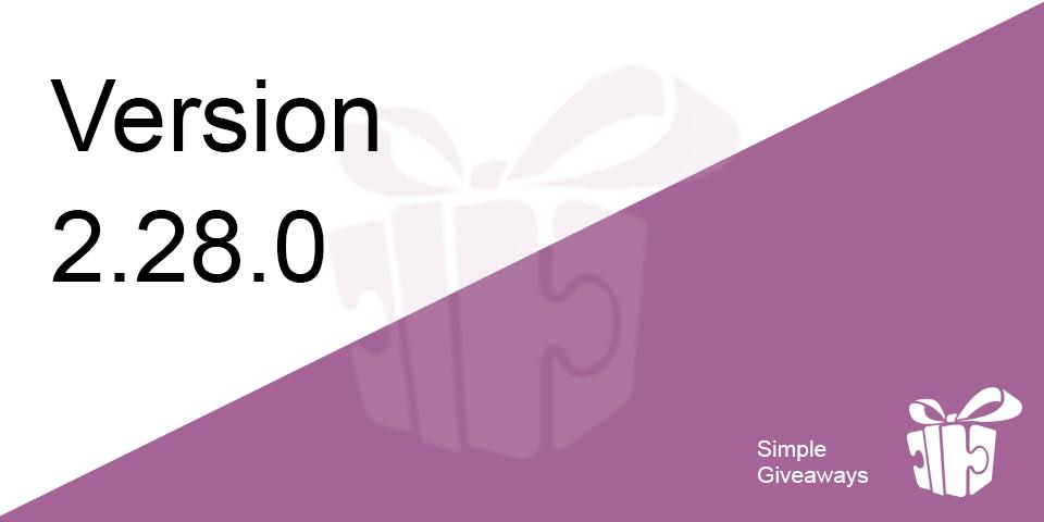 Secret Code Action, Awarding Prizes & Entries Page enhancements – 2.28.0